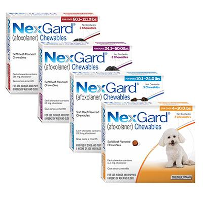 NexGard® Chewables pets animal pharmacy best price