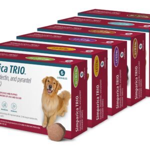 Simparica Trio Chewable Tablets for Dogs, 44.1-88 lb, 6 treatments MAIN 3