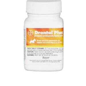 Drontal Plus Tablets for Dogs, 2-25 lbs 22.7MG