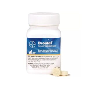 Drontal Tablets for Cats, 2-16 lbs