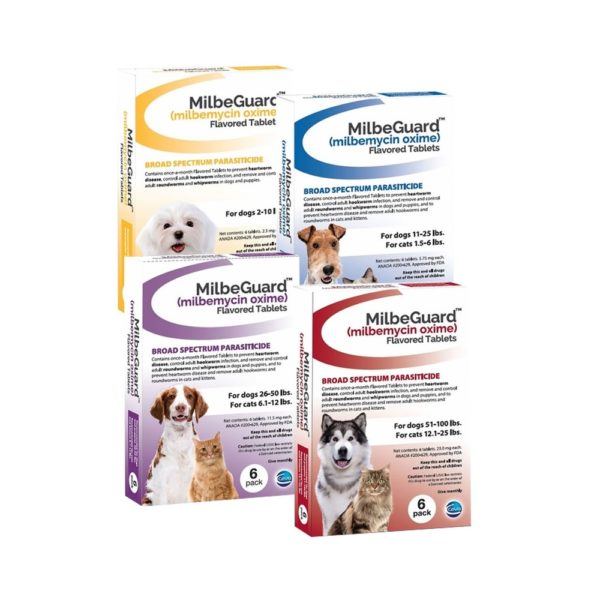 MilbeGuard Flavored Tablets for Dogs and Cats, 6 Month Supply main