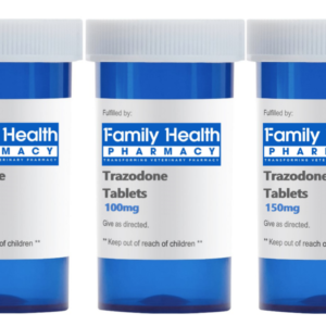 Trazodone Tablets 50mg 100mg 150mg Blue Pill Bottle