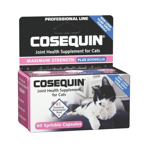 Cosequin Joint Health Supplement for Cats, Max Strength + Boswellia Sprinkle Caps 60
