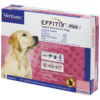 EFFITIX Flea & Tick Spot Treatment for Dogs, 45-88.9 lbs, 3 Doses (3-mos. supply)