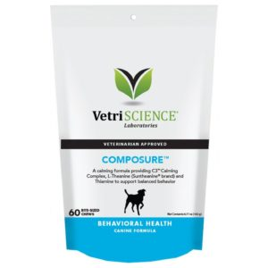 VetriScience Composure Chicken Liver Flavored Soft Chews Calming Supplement for Dogs 60Ct