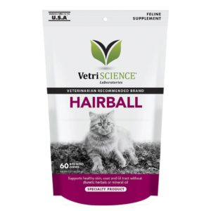 VetriScience Hairball Chicken Liver Flavored Soft Chews Hairball Control Supplement for Cats, 60-count By VetriScience 2